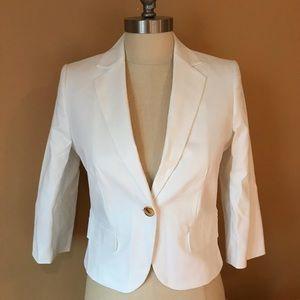 Calvin Klein White One Button Blazer - 1172